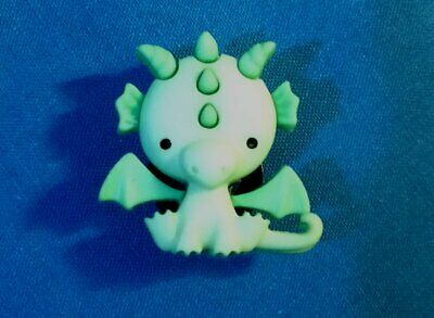 Cute Little GREEN FairyTale DRAGON Animal Shoe Charms Holey Clog Shoe Charm