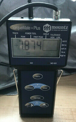 Mountz TorqueMate Plus Torque Analyzer , ( 50 to 250 ft lbs ) complete system