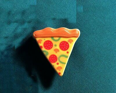 Food PIZZA Pepperoni and Cheese,Mushrooms,Peppers Pie Clog holey Shoe Charm
