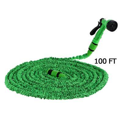 100FT Expandable Flexible Magic Hose Water Pipe Spray Nozzle Garden Irrigation
