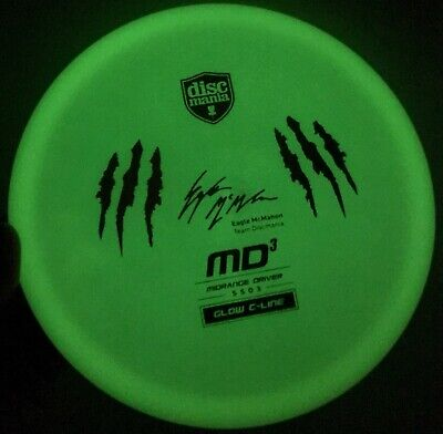 Discmania Eagle McMahon Glow C line MD4 with MD3 Claw Stamp Rare Midrange Driver