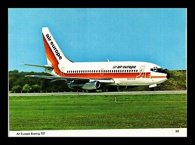 Dr Jim Stamps Us Air Europe Airplane Transportation Continental Size Postcard