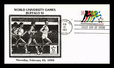 Dr Jim Stamps Us World University Games Buffalo New York First Day Cover