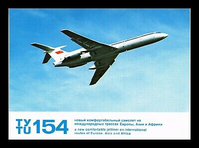 Dr Jim Stamps Us Ty Tu 154 Airplane Transportation Continental Size Postcard