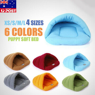 Soft Cozy Warm Puppy Cave House Sleeping Bag Mat Pad Puppy Pet Cat Dog Nest Bed