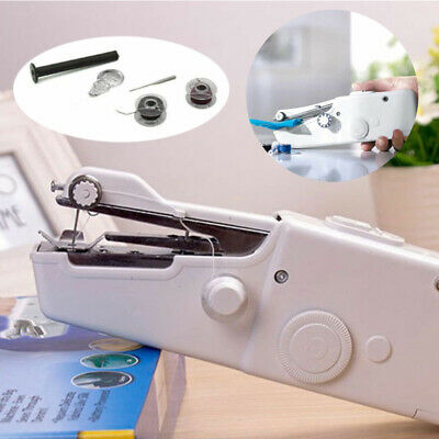 Mini Portable Handheld Cordless Sewing Machine Hand Held Stitch Home Clothe Easy