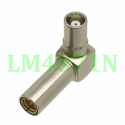 1pce Adapter 90° MS147 MS-147 male plug to MCX female jack right angle connector