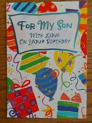 LARGE HALLMARK BIRTHDAY GREETING CARD For SON BALLOONS GIFTS