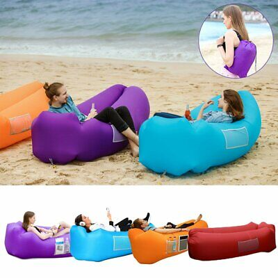 Portable Inflatable Lounger Air Sofa Bed Lakeside Beach Traveling Camping Picnic