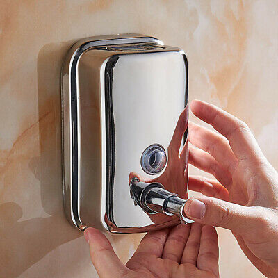 Stainless Steel Soap Dispenser Wall Mounted Soap Dispenser for Bathroom Hotel