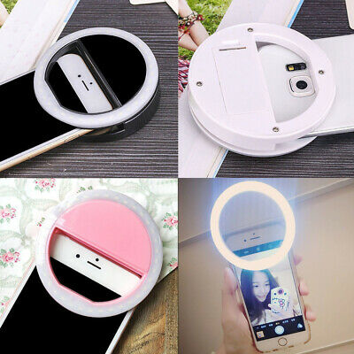 Portable Ring Shape Selfie LED Ring Light Fill Light for iPhone Android Phone  B
