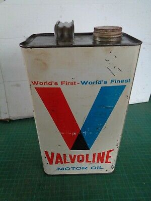 Vintage garagenalia VALVOLINE 1 gallon fuel tin with cap
