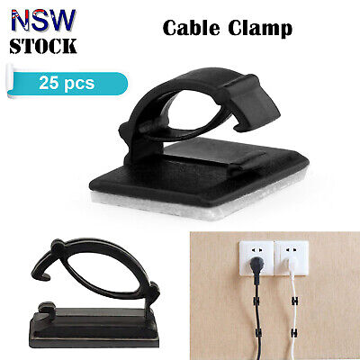 Cable Organiser Clips Adhesive Wire Management Car Desk Tidy Holder Sticker Mini