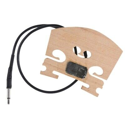 Violin Bridge With Internally Mounted Piezo Pickup For 4/4 Full Size Electr O8D8