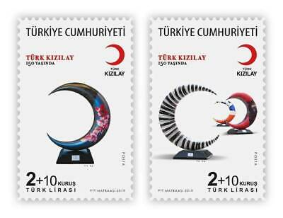 TURKEY/2019 - 150th YEAR OF TURKISH RED CRESCENT (Red Cross), MNH