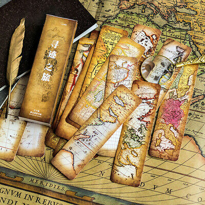 30pcs/lot Tracing tour Paper bookmarks message Cards bookmark.