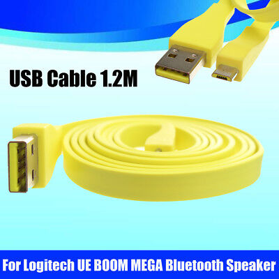 AU For Logitech UE BOOM Bluetooth Speaker 1.2M Micro USB PC Charger Data Cable