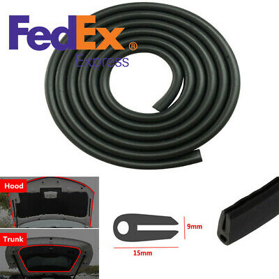 5M Rubber Seal Weather Strip Protector Auto Car Door Edge Guards Soft U-Shape