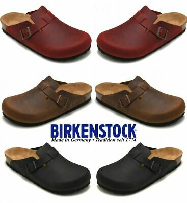 the latest 3c21d 2b12b BIRKENSTOCK BOSTON SFB Nubukleder Clogs Weichbettung Schuhe ...