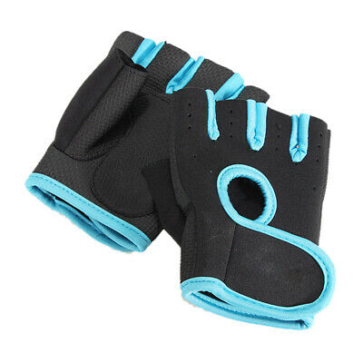 1X(NEW Sport Cycling Fitness GYM Half Finger Gloves Weightlifting Exercise E8B9