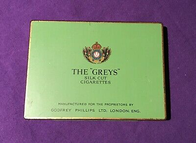 The Greys silk cut cigarette tin in very nice condition