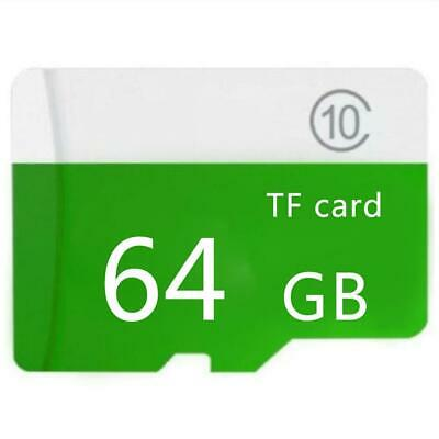 64GB Micro SD-Karte 10 Class SDHC Memory Adapter + TF Card For PC / Mobile