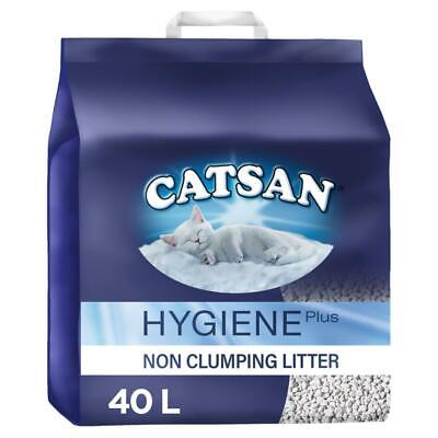 Catsan Hygiene 40L Non Clumping Cat Litter 40 Litres (2x20L) Odour Protection