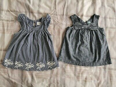 Baby Gap Girl Navy & White Summer Two Tops Size 3 Years Bundle