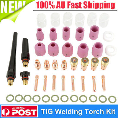 49Pcs Set TIG Welding Torch Consumables Nozzle Cups Collets Kit For WP-26 17 18