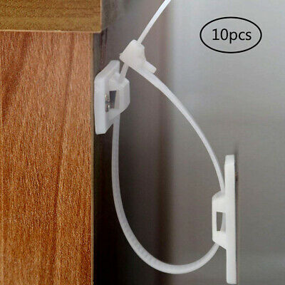 10pcs Durable Furniture Strap Buckle Anti-Tip Plastic Prevention Device For Home