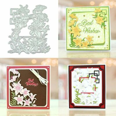 Lily Flower DIY Metal Cutting Dies Stencil Scrapbooking Photo Album Stamp Decor