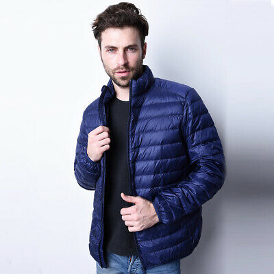 AU Men's Winter Quilted Padded Puffer Coat Lightweight Down Jacket Outwear