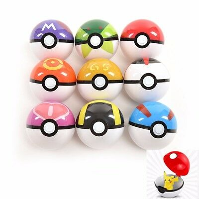 9PCS  poke BALL Toy Pokemon Pokeball Cosplay Pop-up Master Great kids Gift