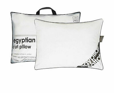 New Luxury Egyptian Cotton Cot Pillow Nursery Junior Baby Toddler Kids Bedding