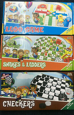 New Childerns Snakes&Ladders OR Ludo Traditional Family Board Game Kids Activity
