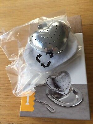 Tea Infuser Heart Shape+Drip Tray Le Xpress KitchenCraft. New. Gift. Present.