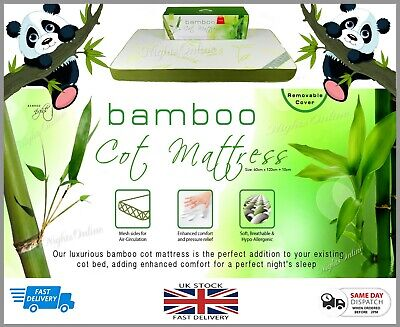 New kids toddlers Bamboo Cot Mattress with Removable Cover 2 Sizes Available