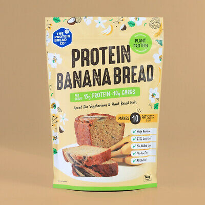 The Protein Bread Co Plant Protein Banana Bread 340g