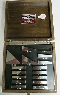 Starrett AG16CSI Angle Steel Gage Block Set-Degrees 15 Pcs Grade SI - NL10