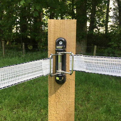 JEF LACME-053 New Electric Fence CORNER Insulator for Wire Rope Tape 12mm