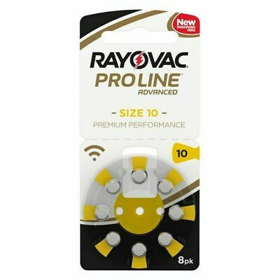 Rayovac PROLINE Mercury Hearing Aid Batteries Size 10 Expires 2022