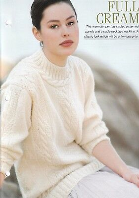 162 Knitting Pattern Lady/'s DK Cabled Jacket Chest Size 76-107 cm