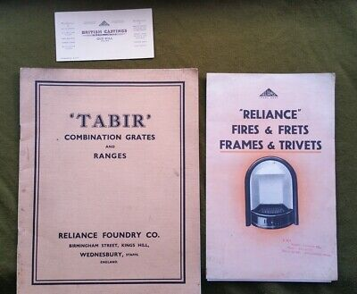 Two Original 1930s Fireplace Catalogues Reliance Foundry & British Casting Ltd