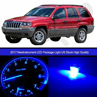 Blue Gauge Cluster Light+ Climate Control LED Kit for 02-04 Jeep Grand Cherokee