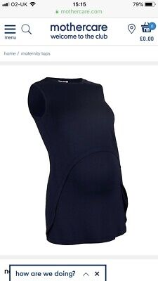 Blooming Marvellous Navy Blue pre & post pregnancy nursing top - size M - A***