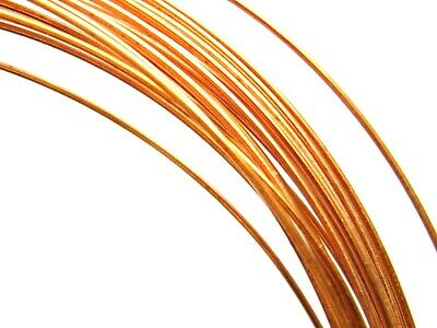 """Pure Copper Round Wire Solid Uncoated Best Grade -""""A""""-Made in USA Soft 20 Gauge"""
