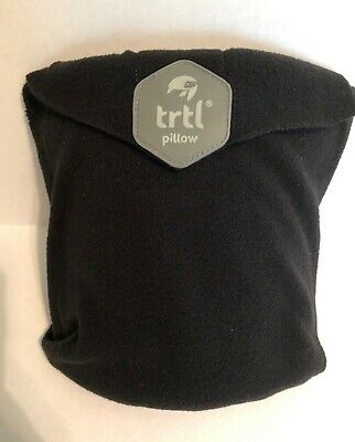 Trtl Pillow Scientifically Proven Super Soft Neck Wrap Support Black Travel Rest