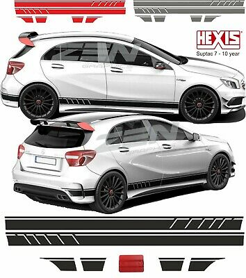 Mercedes A45 edition1 AMG W176 Side stripes & Bonnet Decals Stickers panel fit