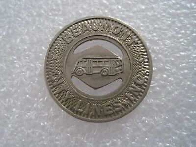 1940/'s BEAUMONT CITY LINES Good for 1 Fare 23mm BUS TRANSIT Texas TX 65I