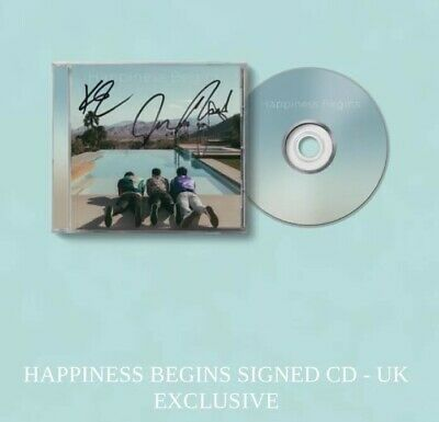 Signed CD Card **UK EXCLUSIVE** Limited Edition Jonas Brothers Happiness Begins